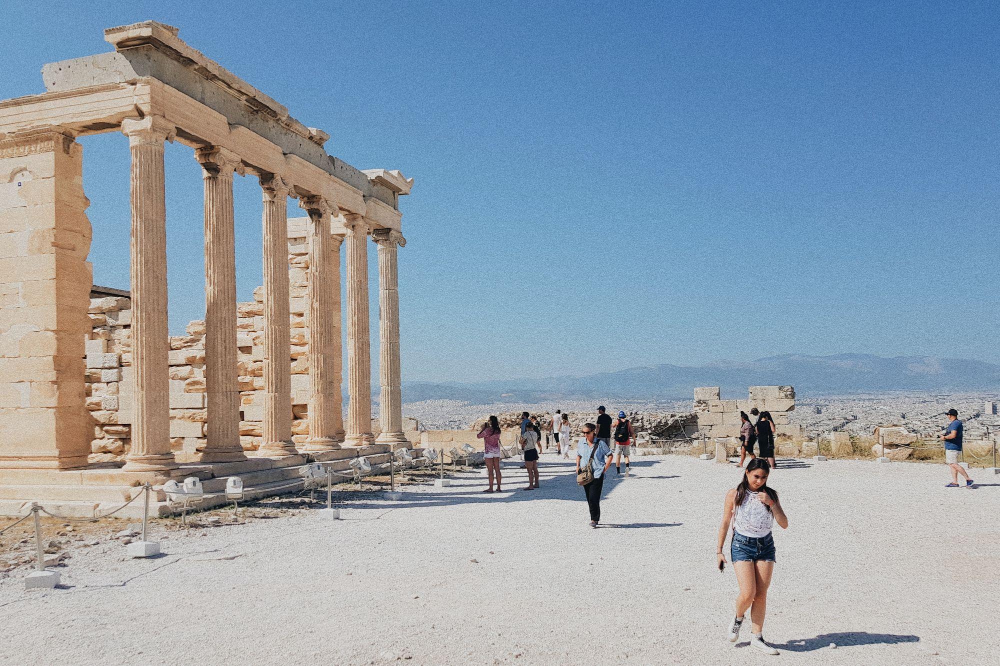 O tym, że w Atenach jest pusto, ale ciepło